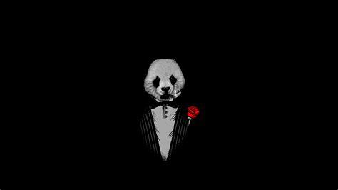 Panda As The Godfather Art, Full HD Wallpaper