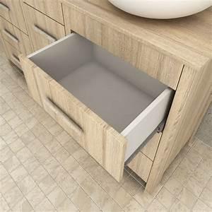 ensemble meuble salle de bain quotsensaquot beige With ensemble tapis salle de bain