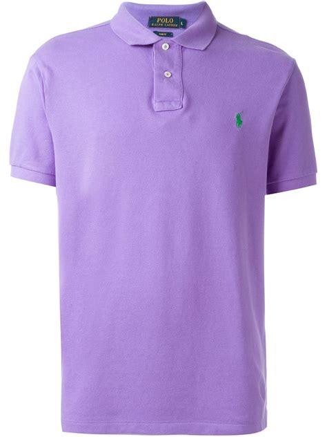 polo ralph lauren classic cotton polo shirt  purple