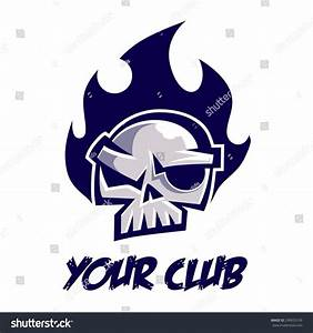 Flaming Skull Logo Stock Vector 290923139 - Shutterstock
