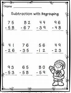 Christmas math--2-digit subtraction with regrouping-FREE ...