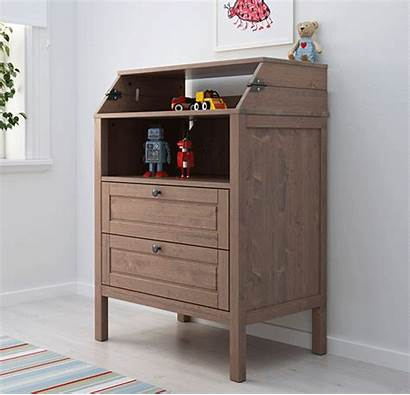 Changing Table Ikea Sundvik Drawers Chest Childrens