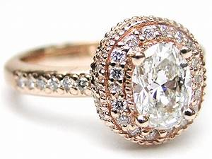 rose pink gold engagement rings from mdc diamonds nyc With wedding rings pink gold