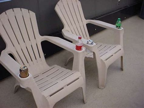 how to add cup holders to your resin adirondack chairs