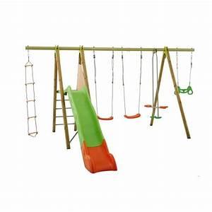 Balancoire Bois Toboggan : balancoire portique en bois amca portique 2 30 m avec ~ Premium-room.com Idées de Décoration