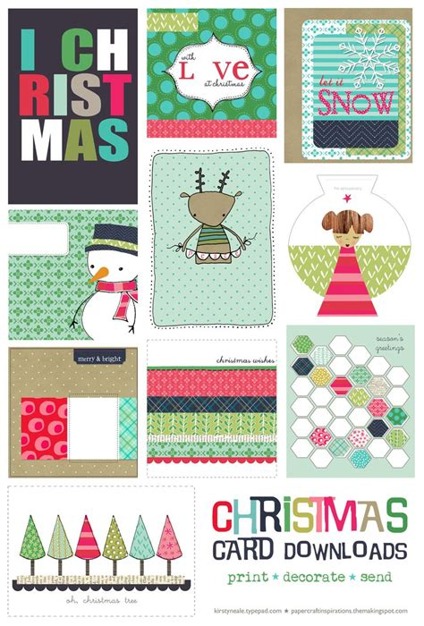 free printable cards free christmas card printable set one velvet morning