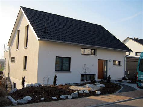 Einfamilienhaus Holzhaus Satteldach Modern Fenster