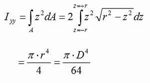Flächenträgheitsmoment Berechnen : biegewiderstandsmoments eines stabs mit kreisquerschnitt berechnen ~ Themetempest.com Abrechnung