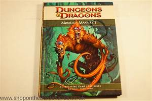 Monster Manual 2  Hardback Rulebook For D U0026d 4th Edition