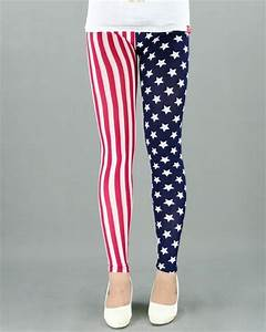 Red White and Blue Leggings | Wardrobe Mag