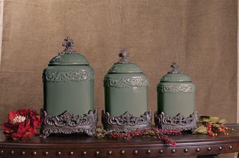 sage large ceramic canister set