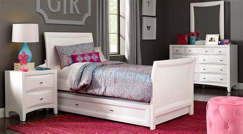 ivy league white  pc full sleigh bedroom teen bedroom