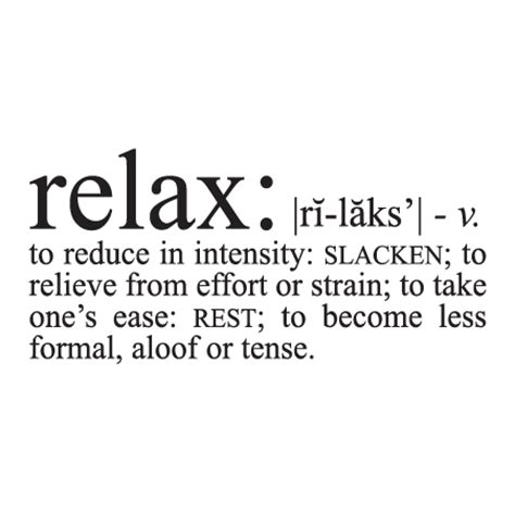 relax definition wall quotes decal wallquotescom