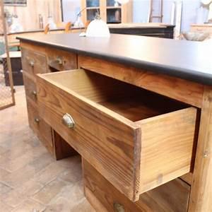 Bureau Ancien En Bois : ancien bureau d 39 usine en bois ~ Carolinahurricanesstore.com Idées de Décoration