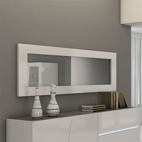 miroir laque blanc brillant miroir design blanc lizea zd1 jpg