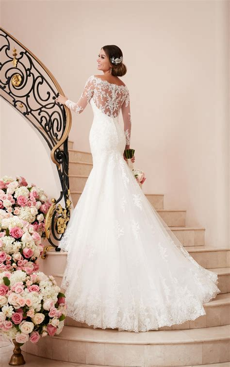 Long Sleeve Wedding Gown With Illusion Back Stella York