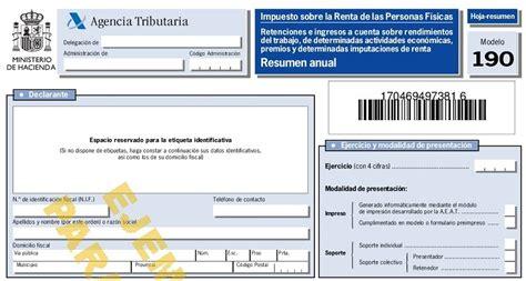 Resumen Anual In by Modelo 190 Resumen Anual Retenciones