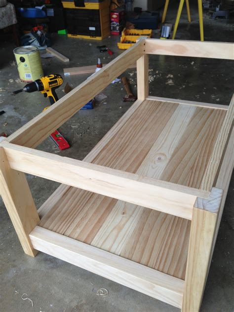 We're pretty happy with the results, and our. Ana White   A farmhouse coffee table - DIY Projects