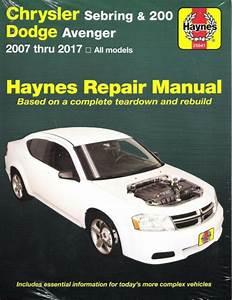 Chrysler Sebring  U0026 200 Dodge Avenger Repair Manual 2007