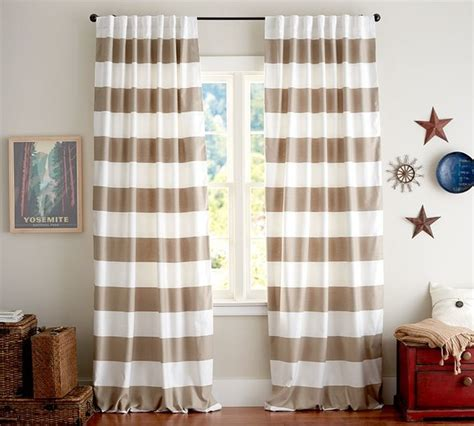 classic stripe drapes taupe set of 2 traditional