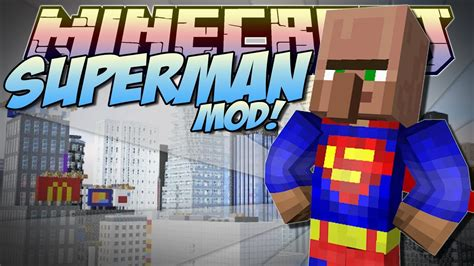 minecraft superman mod   amazing superhero