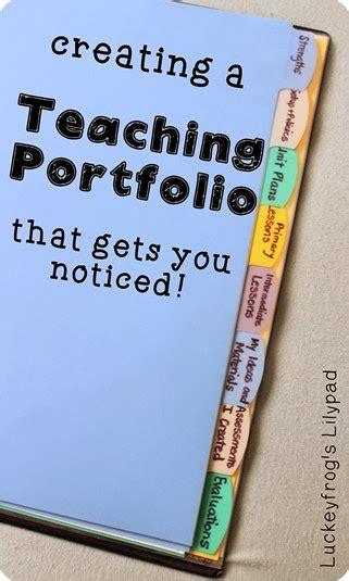 teacher portfolio     job