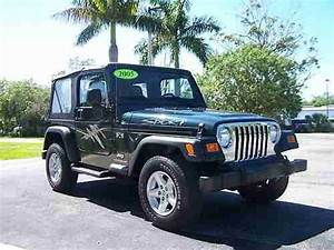 Purchase Used 2005 Jeep Wrangler X 4x4 Sport Green One Owner Florida Jeep With 46 978 Miles In