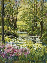 Acrylic Landscape Paintings Spring