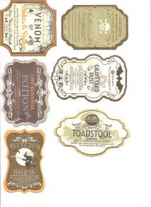 Free Printable Halloween Potion Bottle Labels