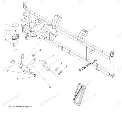 polaris side by side 2011 oem parts diagram for train gear selector all options