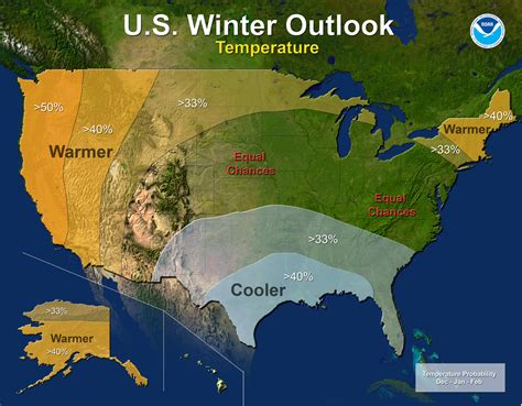 noaas winter weather outlook drier warmer  pacific