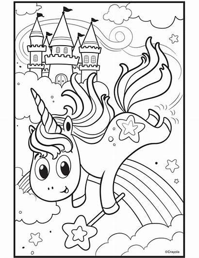 Unicorn Coloring Uni Creatures Pages Crayola