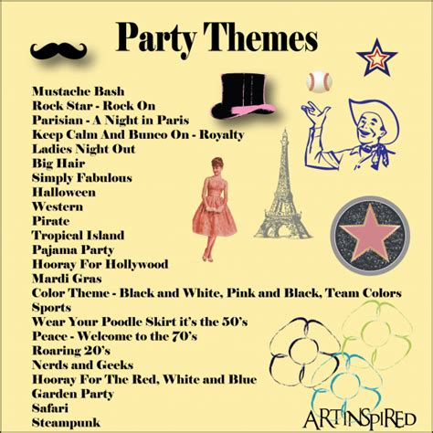 bunco themes party ideas   bunco party themes