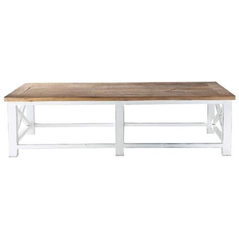 table basse en bois recycl 233 l 160 cm sologne maisons du