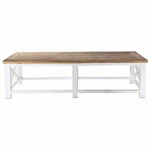 recycled wood coffee table w 160cm sologne maisons du monde With maison du monde tables