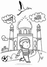Islamic Coloring Muslim Pages Ramadan Worksheets Studies Islam Activities Dots Dot Joining Homeschooling Colouring Printable Sheets Eid Connect Printables Drawing sketch template