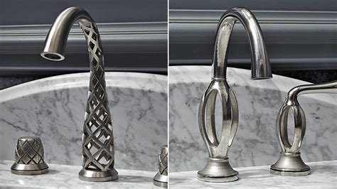 touch kitchen faucet these impossibly twisted 3d printed taps somehow actually