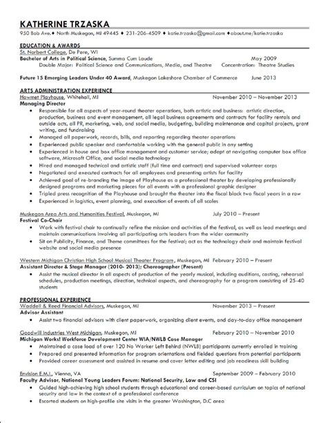Theatre Manager Resume Sle by Sle Sle Nursing To Write A Me Simple Level Objective