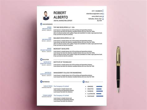 What is the best format for cv? Classic Resume Template Free Download with Doc & PSD Formats - ResumeKraft