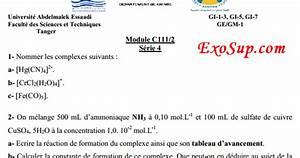 Fst Tanger S U00e9rie4 Corrig U00e9e Chimie En Solution
