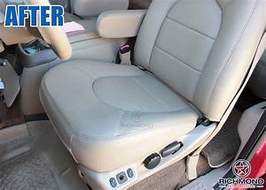 2000 Ford F-250 Lariat Leather Seat Cover  Driver Bottom  Tan