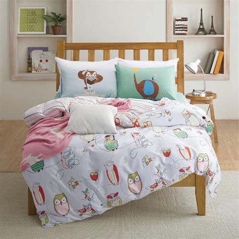kid bedding 100 cotton owl print bedding set size