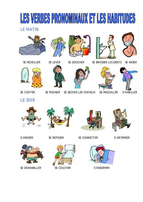 chambre espagnol les verbes pronominaux