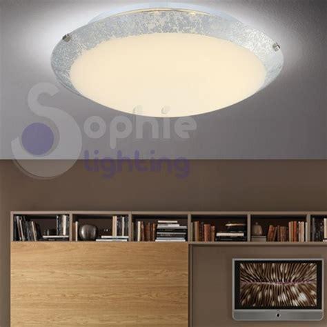 plafoniera moderna soggiorno plafoniera moderna led design rotonda 30 cm vetro foglia