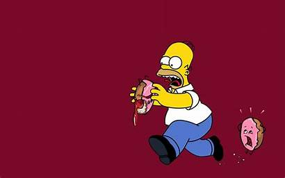 Simpsons Simpson Wallpapers Homer Donuts Funny Supreme