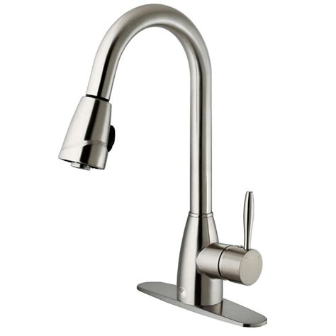 Vigo Stainless Steel Pull Out Kitchen Faucet by Vigo Single Handle Pull Out Sprayer Kitchen Faucet With