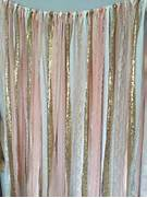 Pink And Gold Shower Curtain by Peach Pink Gold Sparkle Sequin Fabric Backdrop With Lace