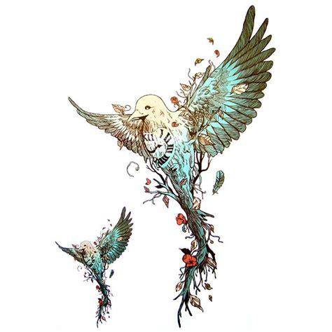 tatouage ephemere oiseau colibri tempo tattoo