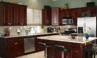 kitchen paint colors with dark cherry cabinets smart