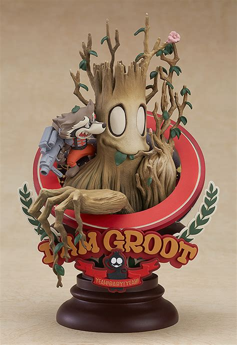 cute statue  groot  rocket based   manga comic